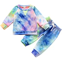 3PCS Newborn Infant Baby Girl Valentine's Day Clothes Long Sleeve Heart Sweatshirt Tops Pants Set with Headband Outfits