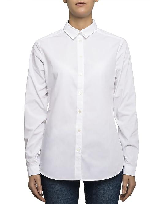 Abbigliamento 3968141 it Amazon Burberry Bianco Camicia Cotone Donna 0wxYYEq7
