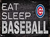 "Fan Creations Chicago Cubs 12"" x 6"" Eat Sleep Baseball Wood Sign"