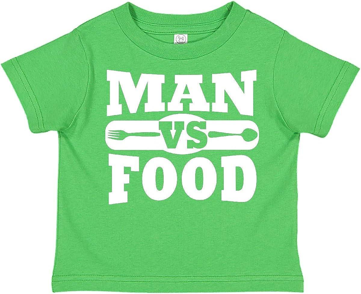 inktastic Man Vs Food Toddler T-Shirt