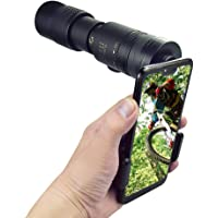 4K 10-300X40mm Super Telephoto Zoom Monocular Telescope with Tripod for Smartphone Portable &Astronomy Beginners…