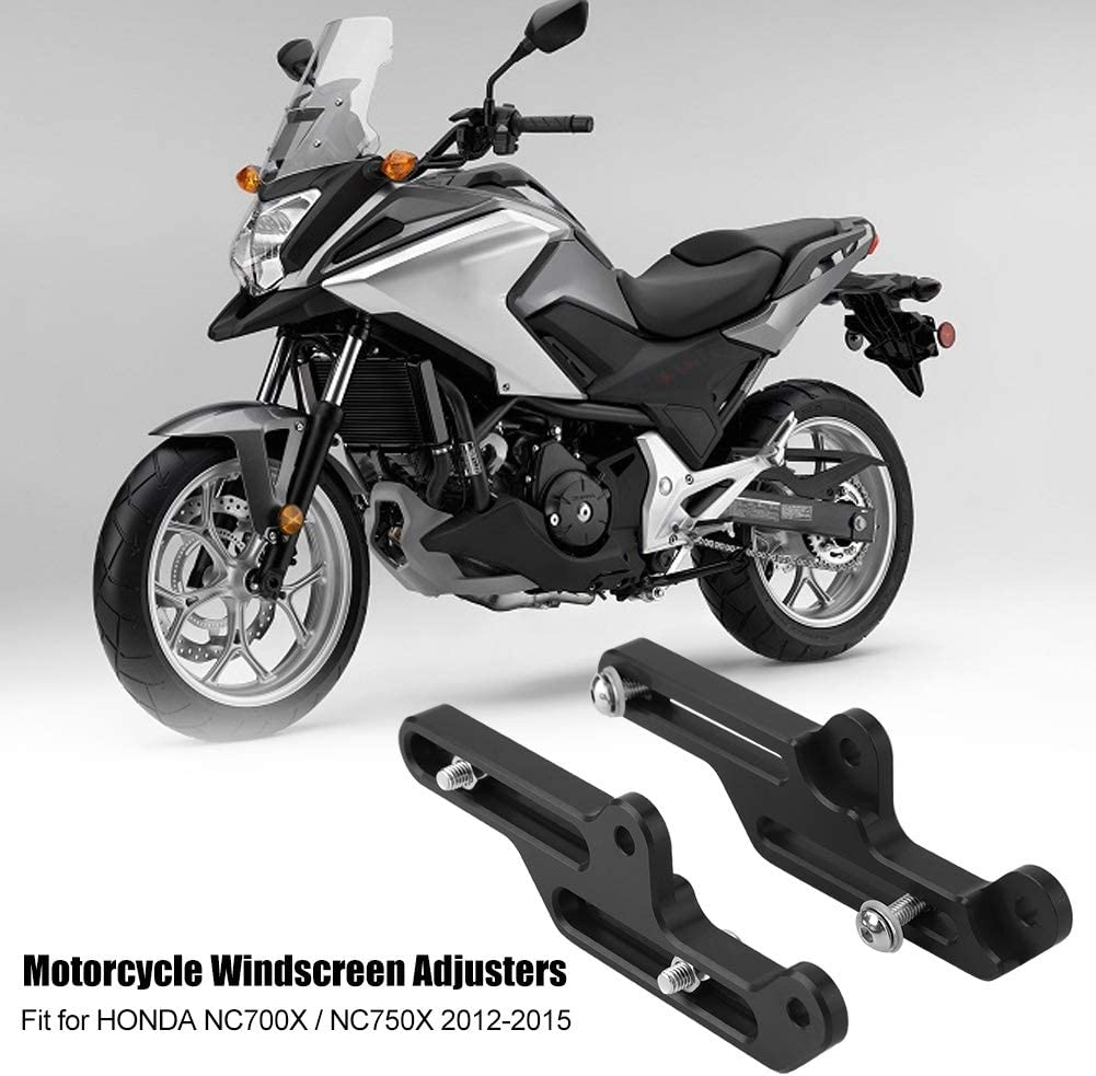 Schwarz NC750X 2012-2015 Motorcycle Windscreen Adjusters Windschutzscheibenhalterung f/ür NC700X