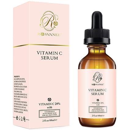ROSVANEE Suero de Vitamina C para Rostro y Ojos 60ml - Suero Facial Puro con 20