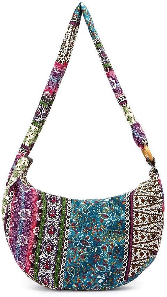 KARRESLY Womens Sling Crossbody Bag Thai Top Handmade Shoulder Bag with Adjustable Strap