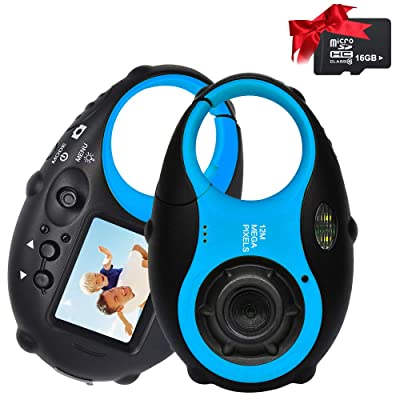 Kids Camera Cute Camera 12MP 4נDigital Zoom Digital Camera with Video, Mini Kids Camera with Photo Frame for Girls and Boys, (Blue & 16G Card)…: Camera & Photo [5Bkhe0300025]