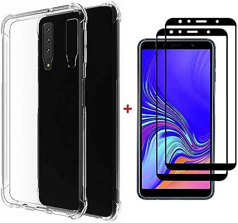 Lanpangzi Compatible con Funda Samsung Galaxy M10 Case + 2 ...
