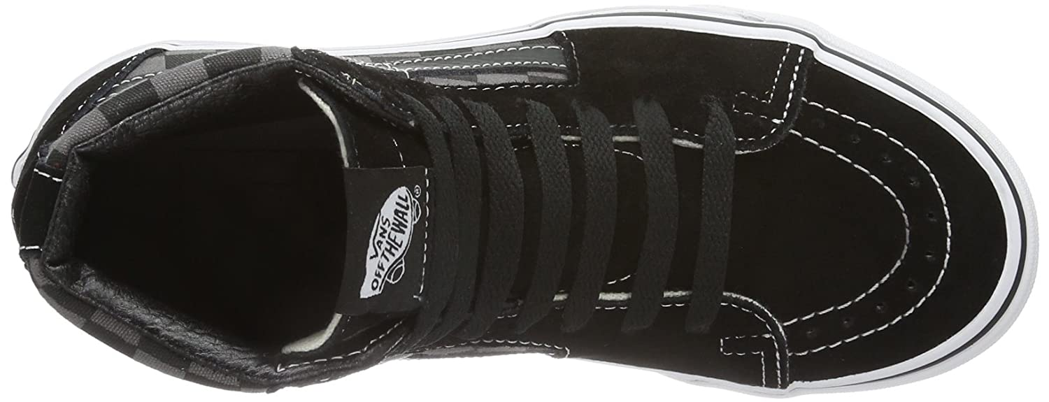 Vans Men's Sk8-Hi(Tm) Core Classics B000SDSYI4 9.5 M US Women / 8 M US Men|Black/Pewter Checkerboard