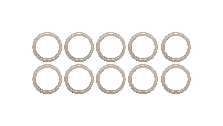 Pack of 500 70A Durometer Black Buna-N 1 mm Width 6 mm OD 4 mm ID Round M1x4 Buna-N O-Ring