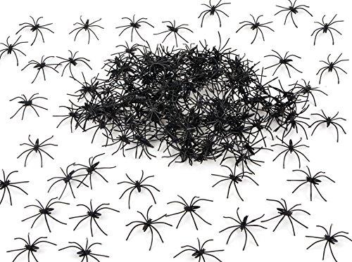 175 Pcs Halloween Spider Decorations - 160pcs Small Spider - 10pcs Medium Spider - 4pcs Big Spider - 1pcs 800 sqft Spider Web Decorations - Best Halloween Party Favor by Fun Holiday (Image #3)