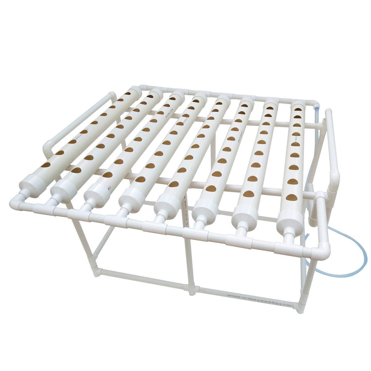 INTBUYING Hydroponic Grow Kit Plant Growing System for Leafy Vegetables 8 Pipes 1 Layer 72 Sites by INTBUYING