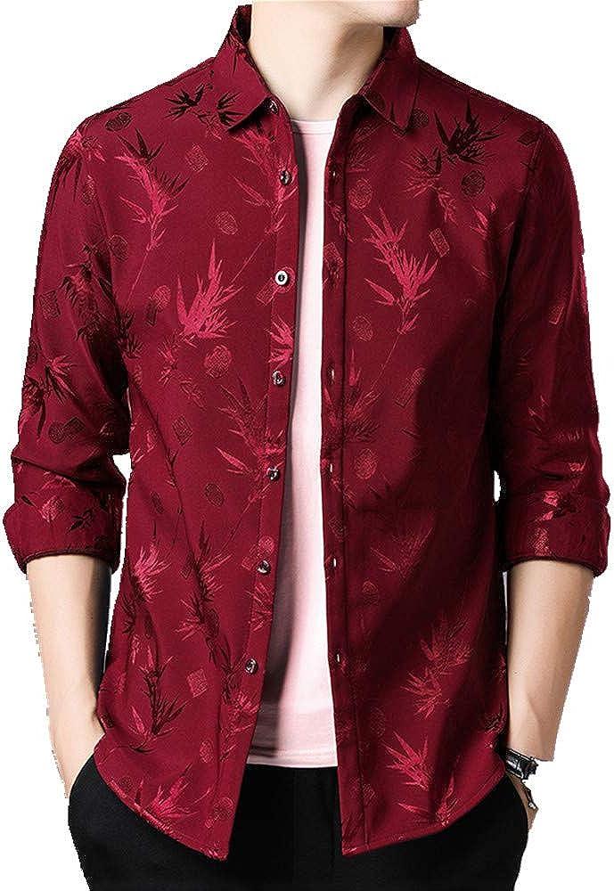 Camisa cálida para hombre forrada con flores fragmentarias de ...