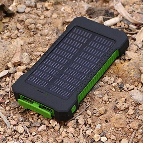 Solar Power Bank US 50000mAh 2 USB LED External Battery Charger For Cell Phone (Green)