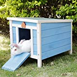 ROCKEVER Cat House Outside, Weatherproof Rabbit