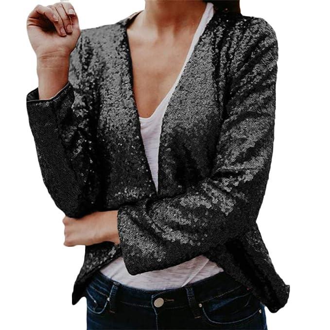 Chaquetas Mujer Vintage Fashion Lentejuelas Cardigan ...