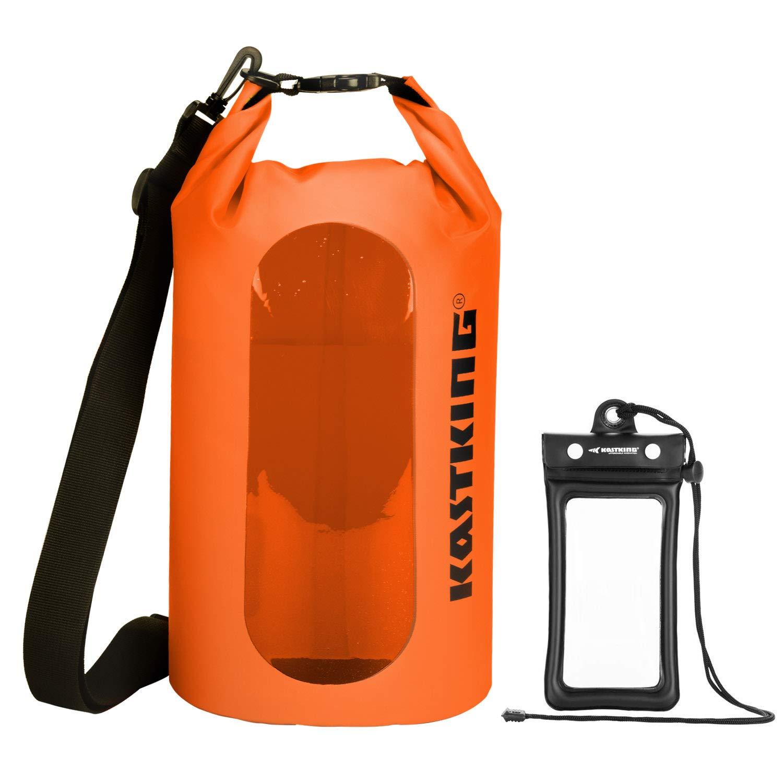 KastKing Floating Waterproof Dry Bag, Orange Dry Bag Combo, 20L