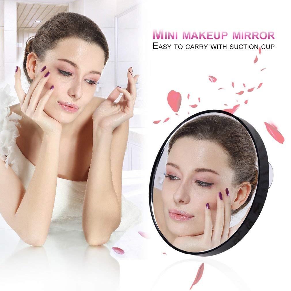 73JohnPol Miroir de Maquillage vanit/é 5X 10X 15X Miroir grossissant avec Deux ventouses cosm/étique Outils Mini Miroir Rond Miroir de Salle de Bains