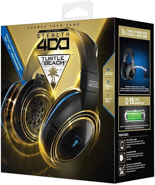 Auriculares gaming estéreos inalámbricos Stealth 400 de Turtle Beach - PS4, PS4 Pro y PS3: Amazon.es: Videojuegos