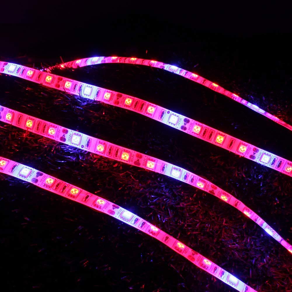 QIZIANG 4 stücke 20 watt 36 36 36 LED wachsen licht Streifen rot  blau 4  1 Wasserdichte LED anlage licht eu us stecker ac100-240v Hot (Farbe   US Plug) B07KNJ4TXT | Elegante Form  c9b755