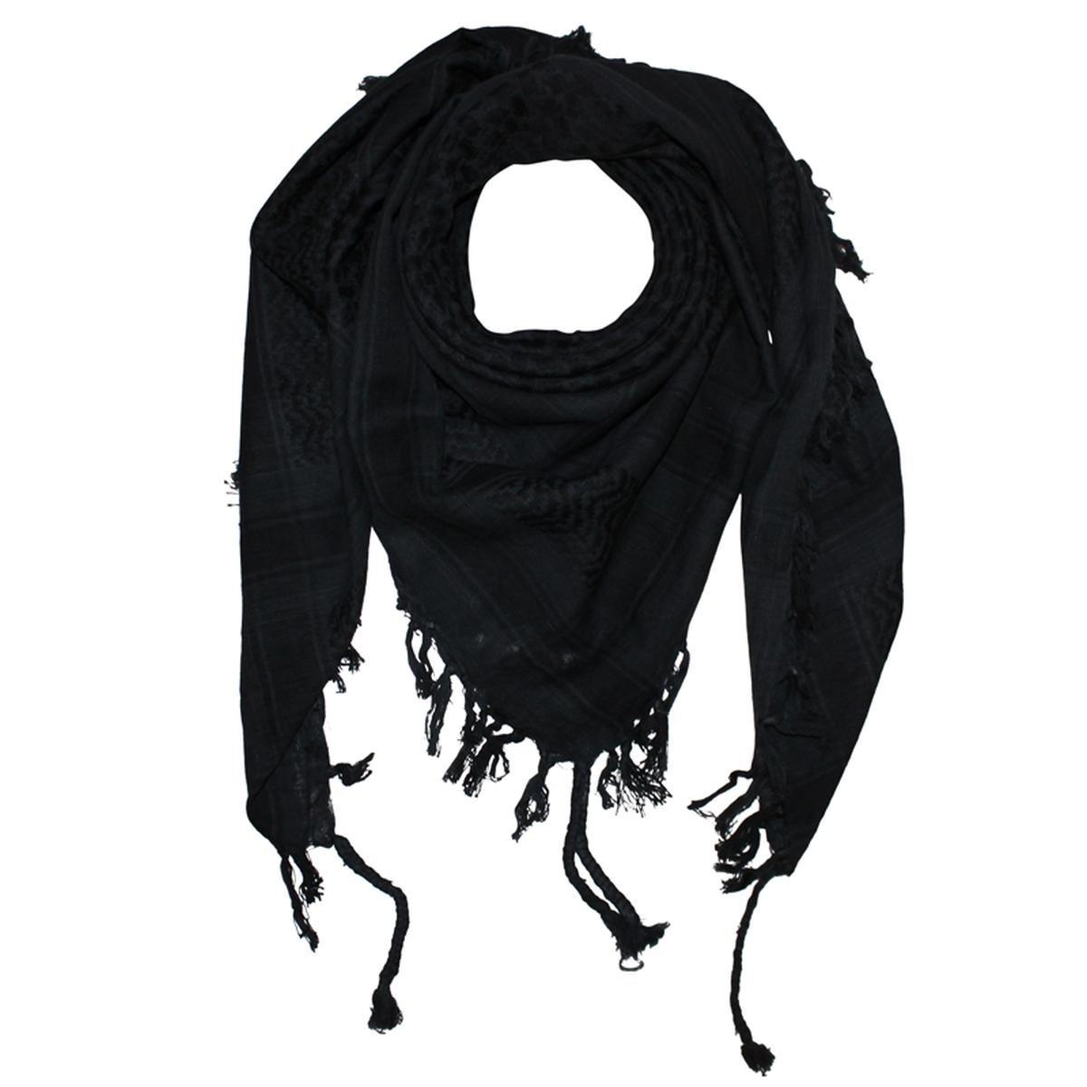Freak Scene Foulard kefiah palestinese 100% cotone classica a due colori 100x100 cm – grigio-scuro/n...