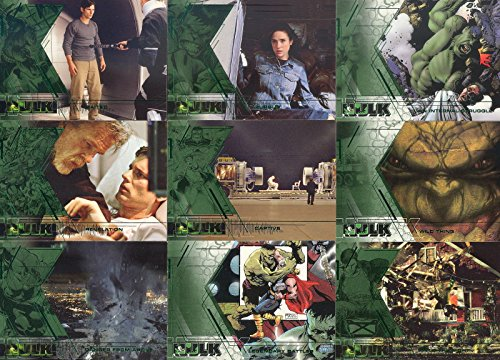 Upper Base - INCREDIBLE HULK MOVIE, THE 2003 UPPER DECK COMPLETE BASE CARD SET OF 81 MARVEL MOVIE