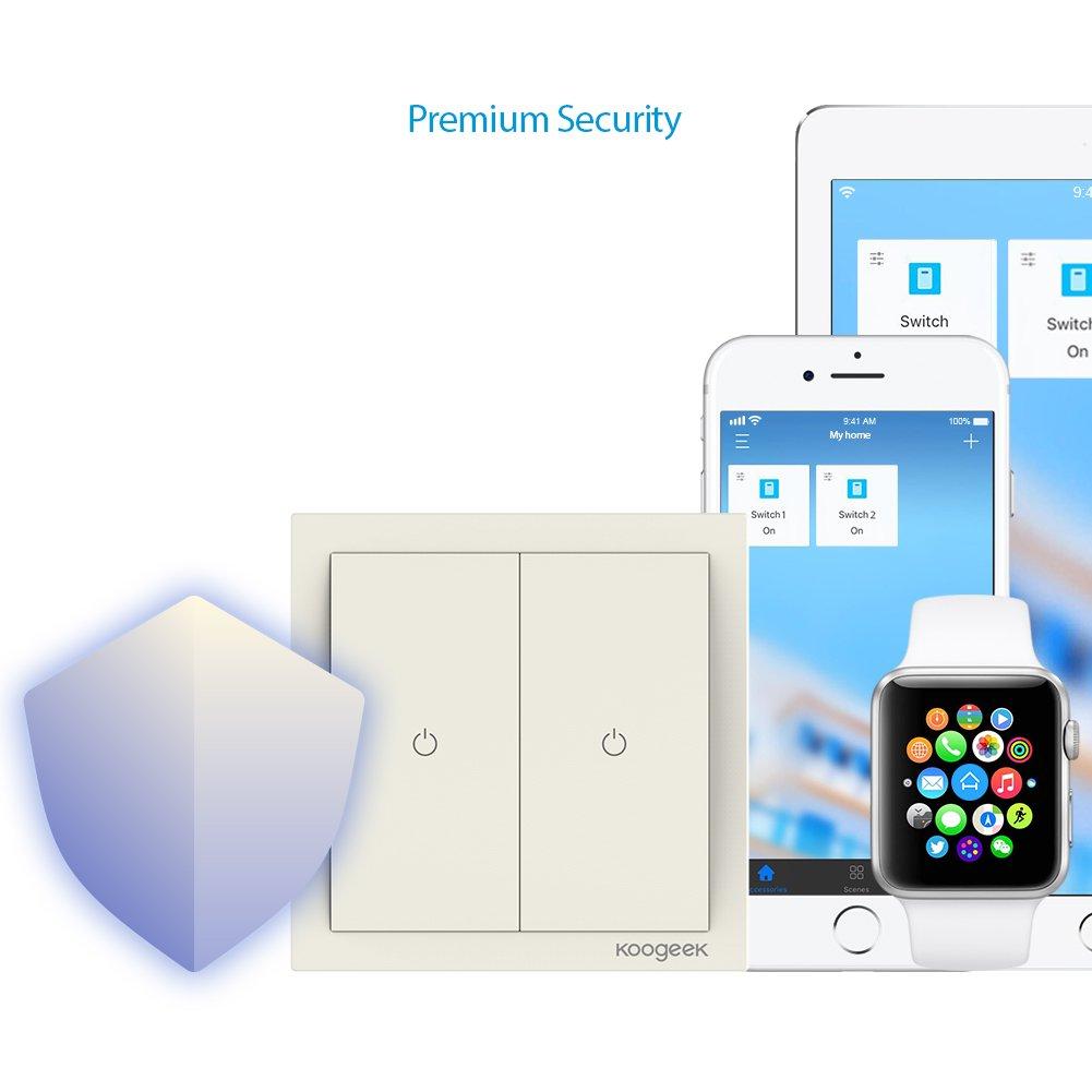 Koogeek Wifi Smart Lichtschalter 220 ~ 240V funktioniert mit Apple ...