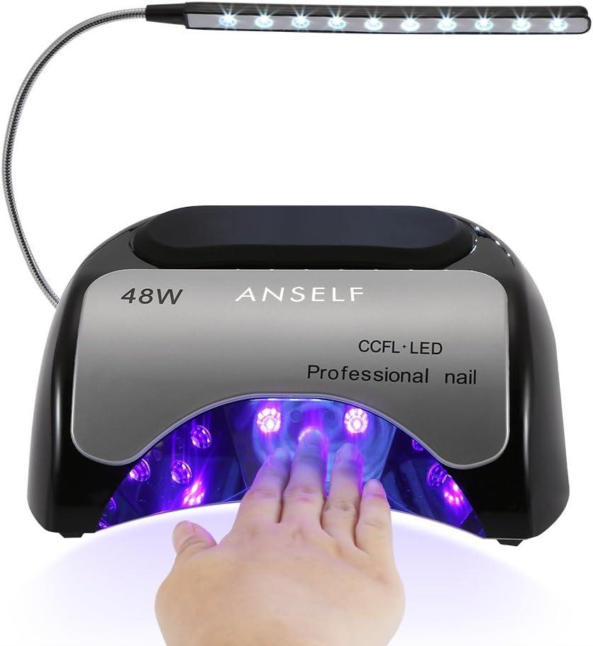 Lámpara de secador de uñas 48W,Anself - Lámpara Manicura Para ...