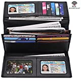i2crazy Women's Large Capacity RFID Blocking Wallet Trifold Luxury Leather Clutch Wallet Card Holder Travel Purse Reviews (Free Shipping Available)