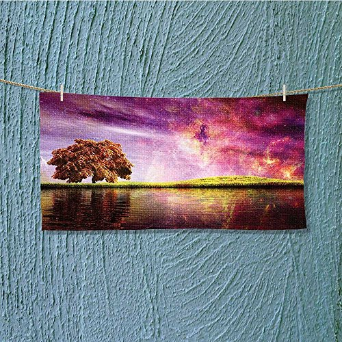 Towel Bar Super Sky Scenery with al Northern Solar Lights and Star Clusters Neat Multipurpose Quick Drying L27.5 x W11.8 inch by alsoeasy