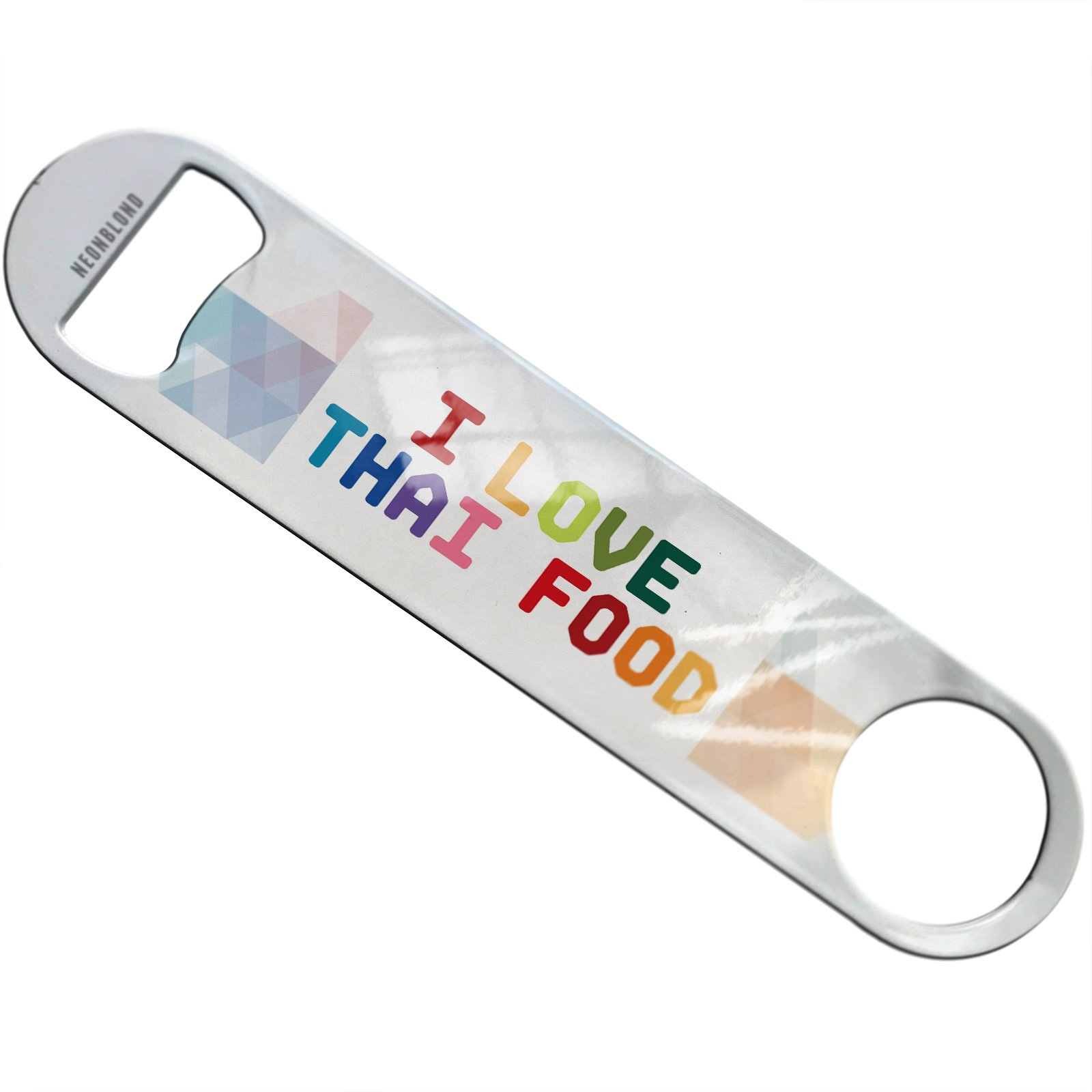 NEONBLOND I Love Thai Food,Colorful Flat Beer Bottle Opener Heavy Duty Bartender by NEONBLOND