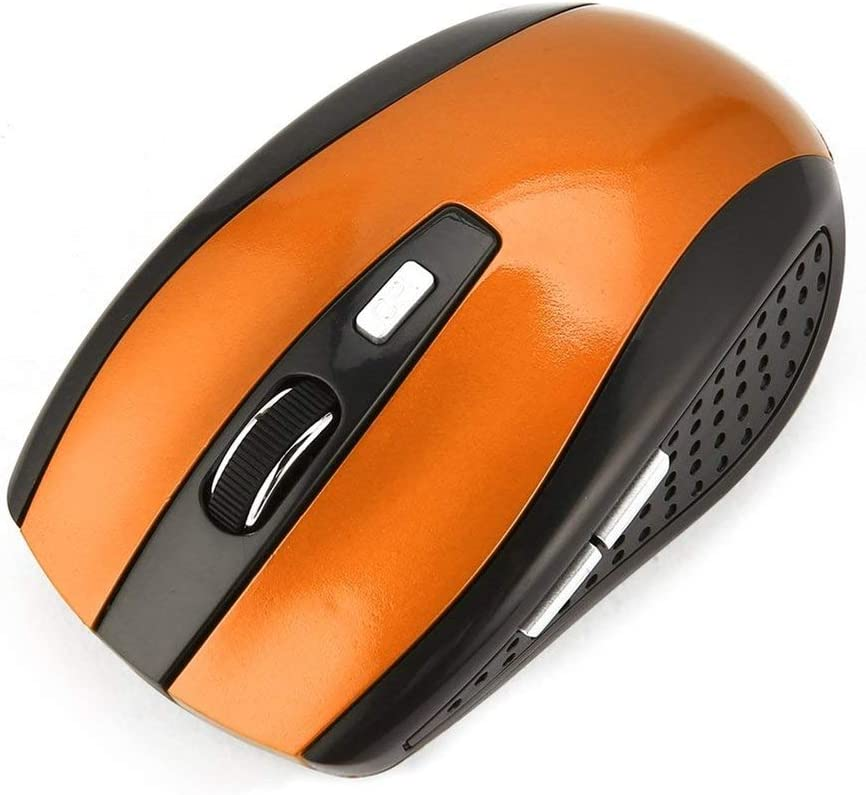 2.4Ghz Wireless Mouse Portable Optical Gaming Mouse Mice For Laptop Computer Orange