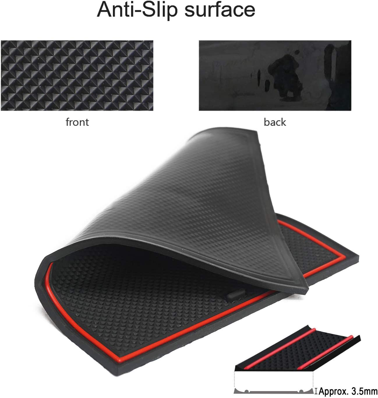 Black Auovo Anti Dust Mats for Mercedes-Benz C-Class C300 Sedan Coupe 2015-2019 Custom Fit Door Compartment Liners Cup Holder Console Liners Interior Accessories 8pcs//Set
