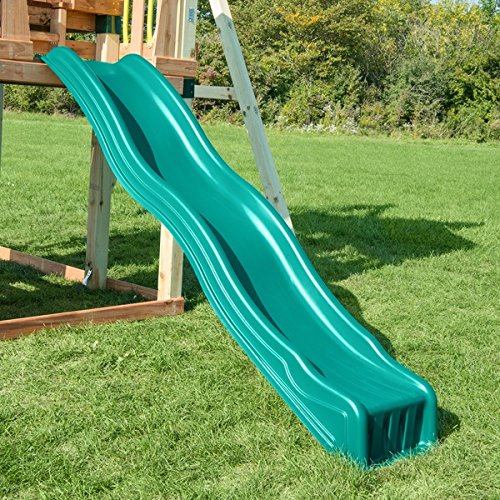 Swing-N-Slide Green Cool Wave Slide, Metal, For Children Ages 2 to 10 Years