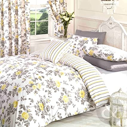 Charlotte Floral Duvet Quilt Cover Polycotton Printed Bedding Set All Sizes