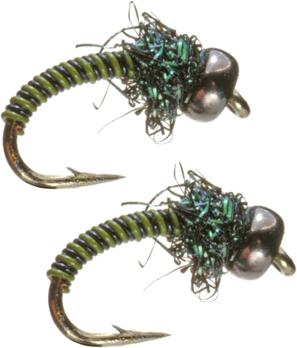 1 DOZEN  TUNGSTEN HEAD TRANSPARENT NYMPHS FOR FLY FISHING-TUNG 193