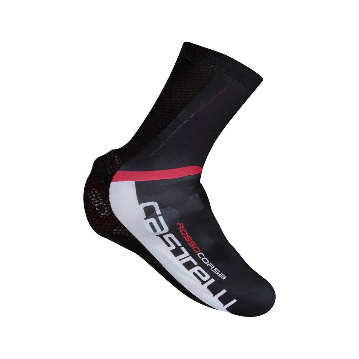 Castelli 2018 Aero Race Mr Cycling Shoecover - S16031 B01BFAZEI6 Small|Black/White