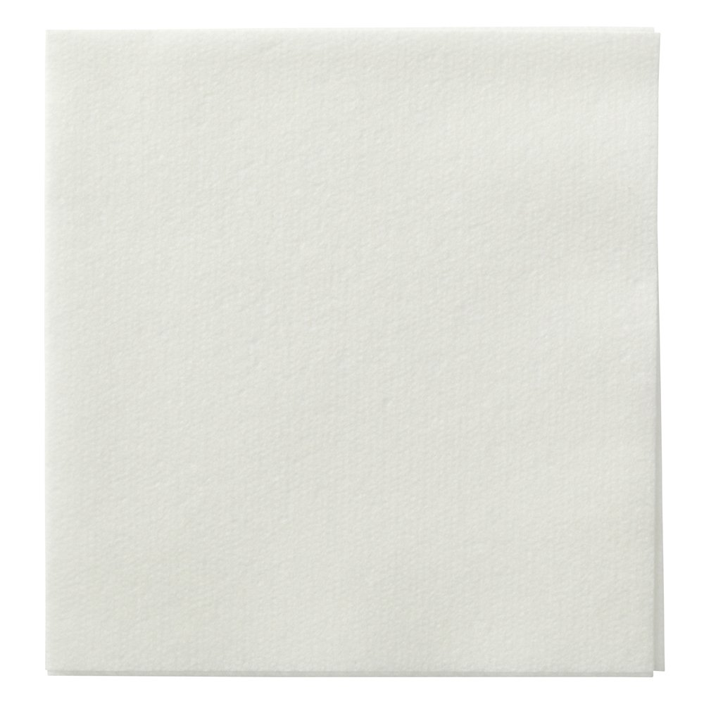 Hoffmaster 046115 Linen-Like Beverage Napkin, Unembossed, 1/4 Fold, 10'' Length x 10'' Width, White (Case of 1000) by Hoffmaster