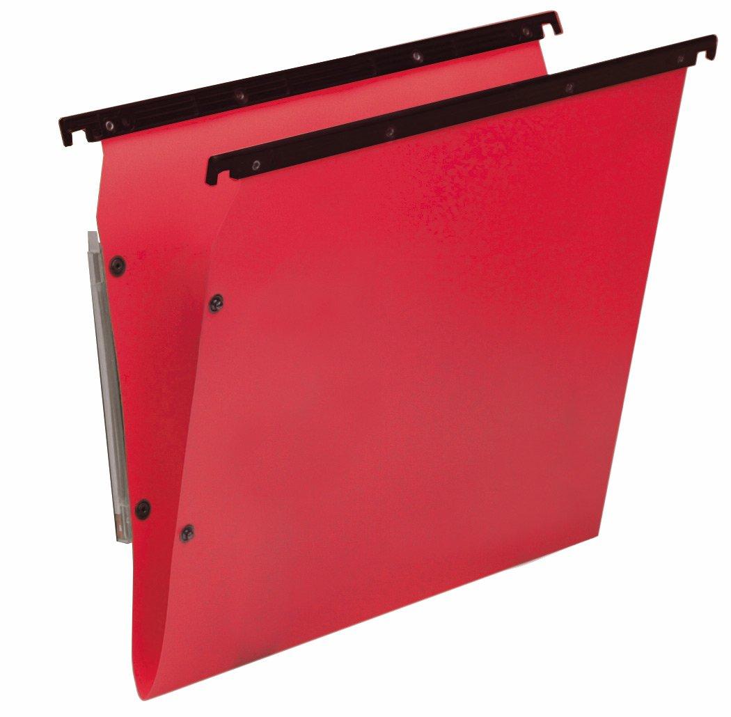 Bertesi - Lote 10 de 10 Lote archivadores colgantes para estanterías, diseño en forma de V, rojo b4f4e2