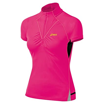 633c0545 Amazon.com: ASICS Women's Fujitrail Short Sleeve 1/2 Zip Top: Sports ...