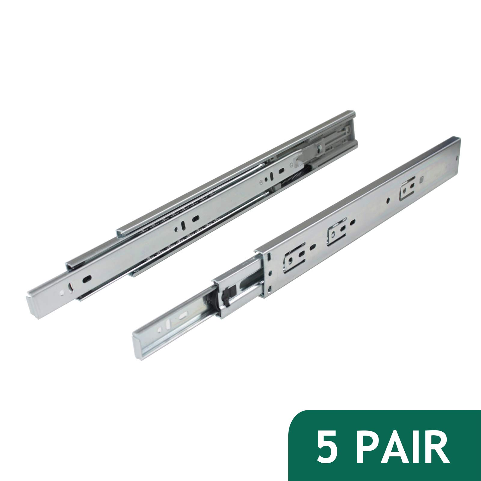 Probrico 100 LB Capacity Full Extension Soft/Self Close Ball Bearing Side Mount Drawer Slides 14 Inch 5 Pair