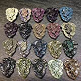 Natural Rainbow Eye Obsidian Leaves Pendant For Men and Women