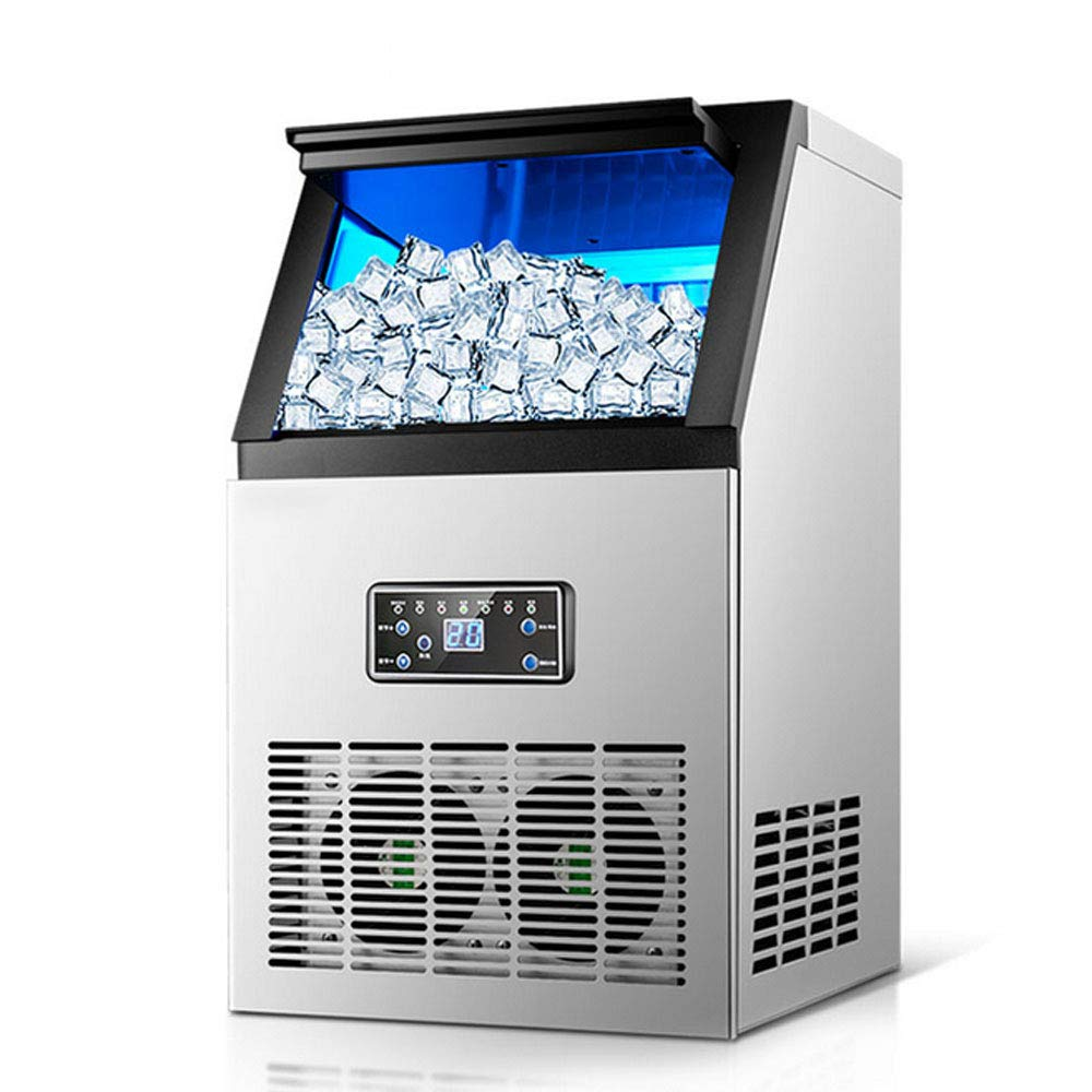 Commercial Ice Cube Maker Auto Ice Making Machine Stainless Steel 110V 50KG by NOPTEG