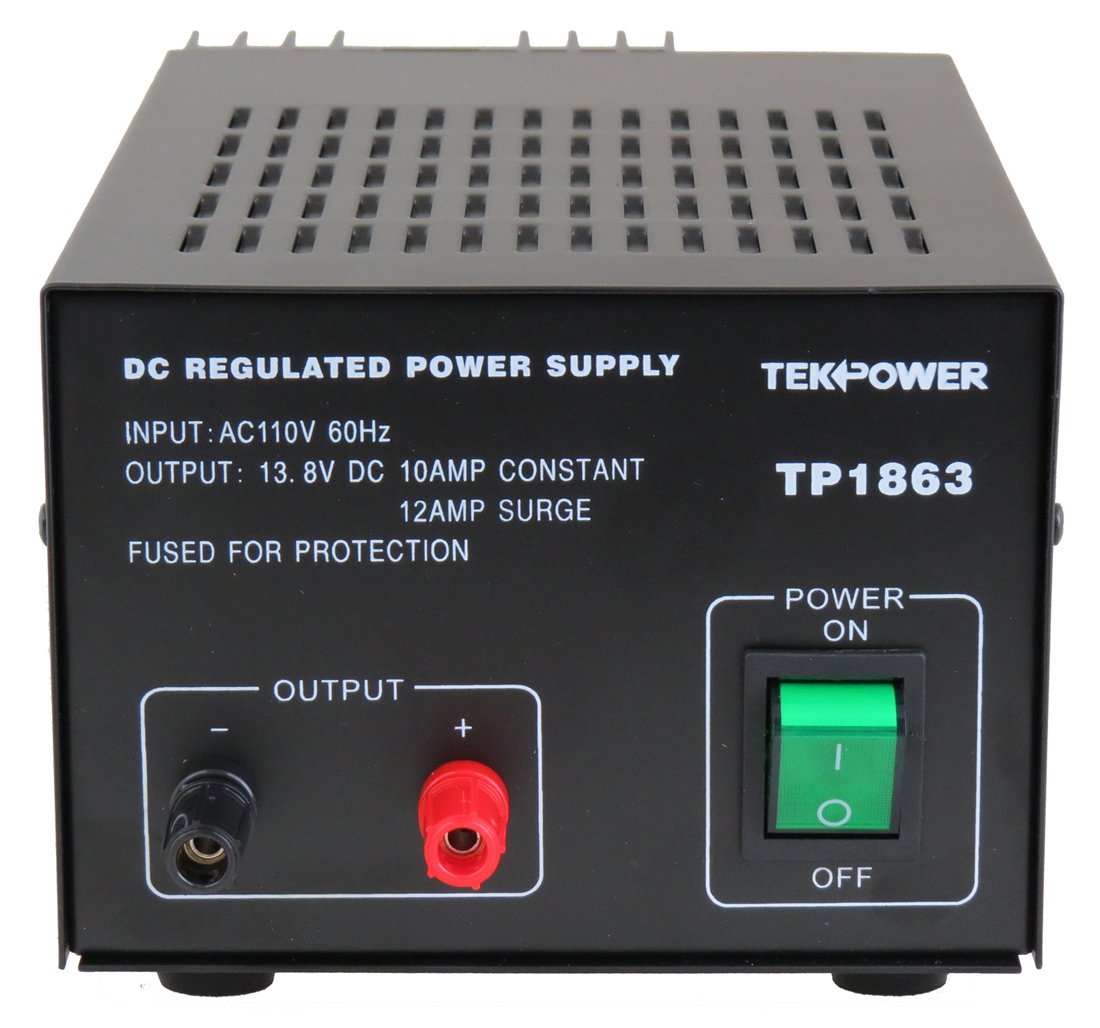 Tekpower Tp1863 12 Amp Dc 138v Regulated Power Supply 10a With Fuse Protection Home Improvement