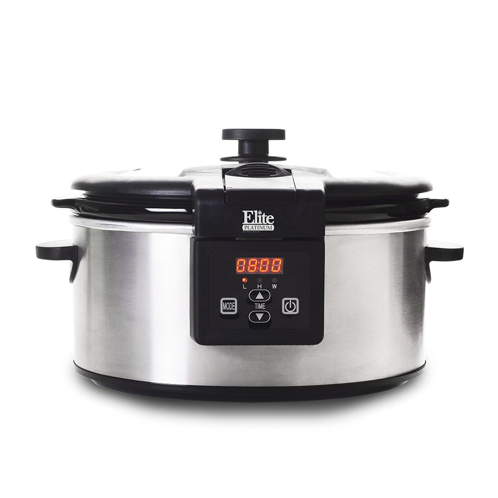 Best Programmable Slow Cooker Platinum 6 Quart Stainless Steel Digital Slow Cookers Program Cooking Time