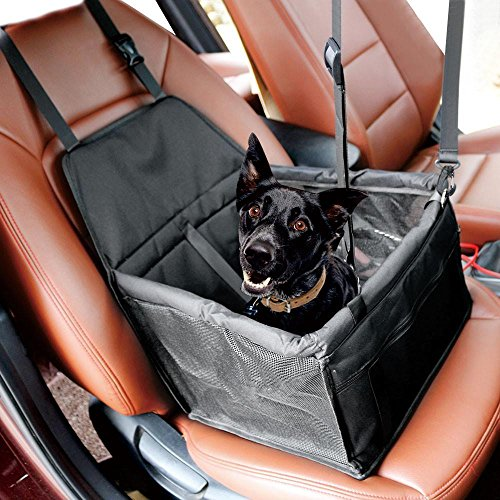 Yaheetech Foldable Pet Car Booster Seat with Clip-On Safe Leash Portable Dog Cat Puppy Carrier Bag