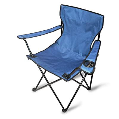 Outdoor Camping Folding Portable Quad Chair with Arm Rest Cup Holder and Storage Bag,for Sports Hiking BBQ Beach(3.96lb): Kitchen & Dining