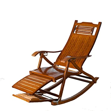 Amazon Com L J Bamboo Rocking Chair Adjustable Folding