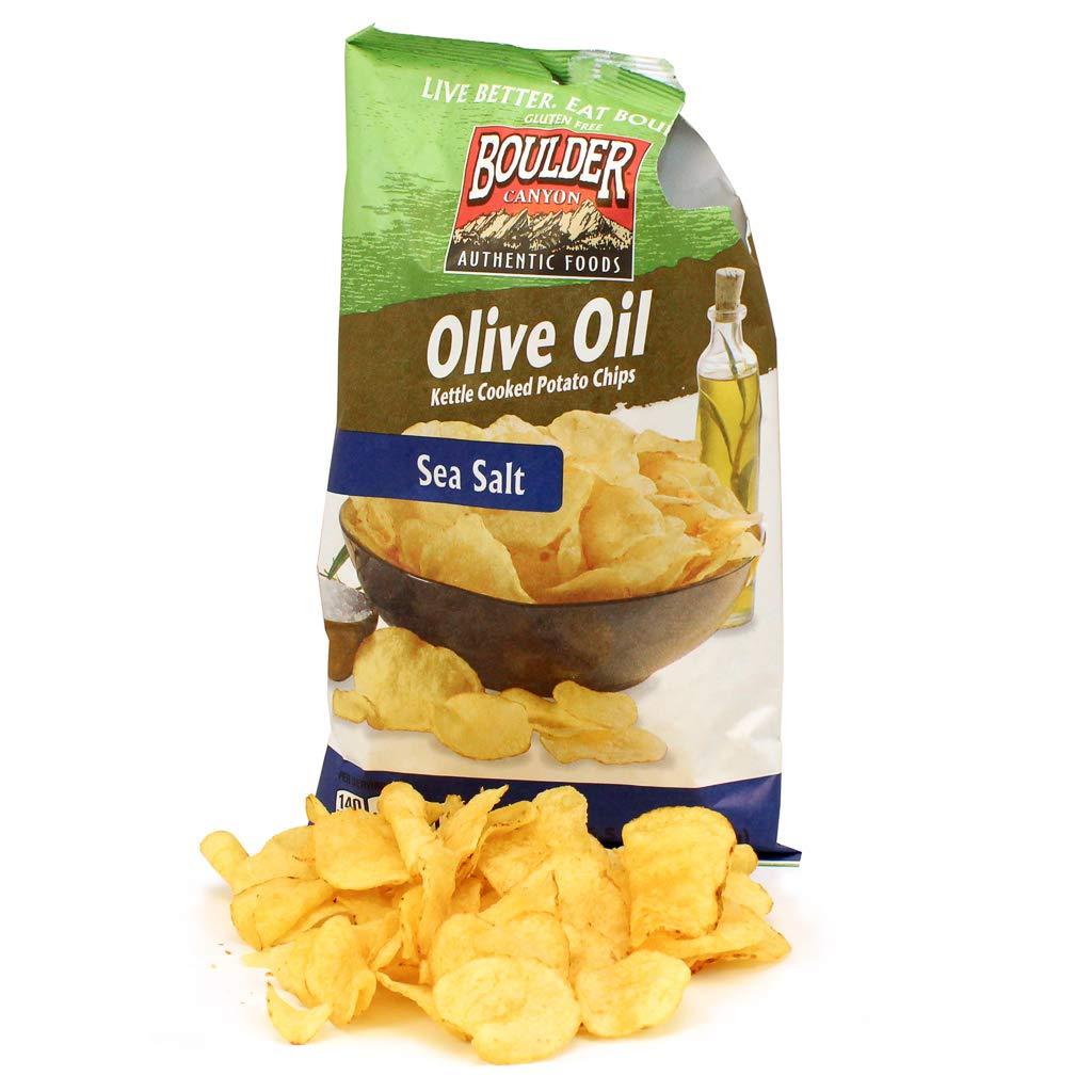 Boulder Canyon Natural Foods Kettle Chips - Olive Oil - Case of 12 - 6.5 oz.