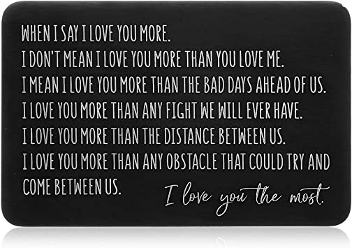 Amazon Com Wallet Insert Card Christmas Gifts For Him Her Husband Boyfriend Valentine Anniversary Birthday Gifts Mini Love Note Wedding Engagement Gifts Men