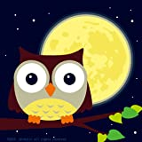 """Colour Talk Diy Oil Painting, Paint By Number Kits For Kids - Owl And Yellow Moon 8""""X 8""""."""