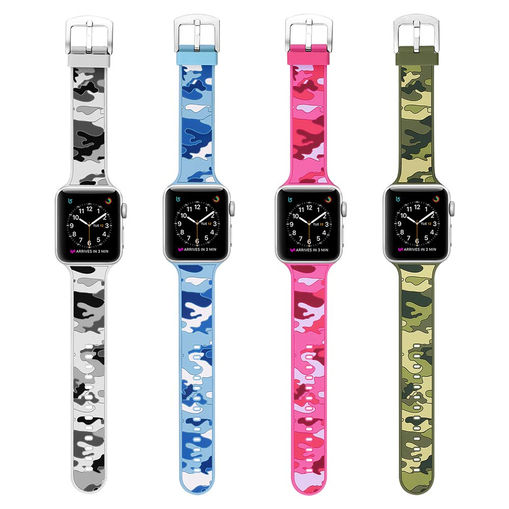 MITERV Compatible with Apple Watch Band 38mm 40mm Soft Silicone Replacement  Band for Apple Watch Series 4 Series 3 Series 2 Series 1